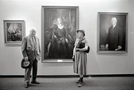 Finch Festival - Kenneth Forbes and his Wife at a Seneca Exhibition of his Paintings