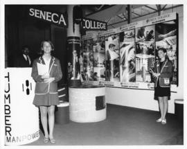 Seneca College Infomation Booth at the Canadian National Exhibition.