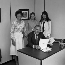 Pat McGovern and Placement Office Staff